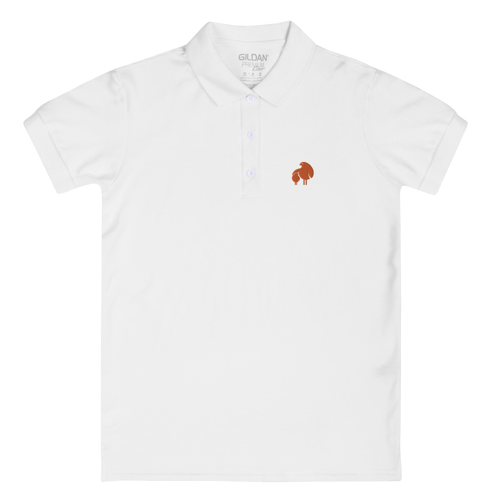 レディース刺繍入りポロシャツ